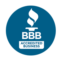 Better Business Bureau accredited icon for Moore's Irrigation and Landscape Lighting Services