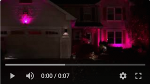 House lighting display using different colors