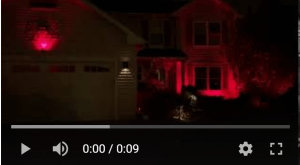 House lit with changing effects for outdoor lighting