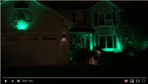 St Patrick's Day Outdoor Lighting