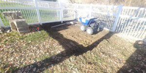 Excavation for a Storage Shed Location